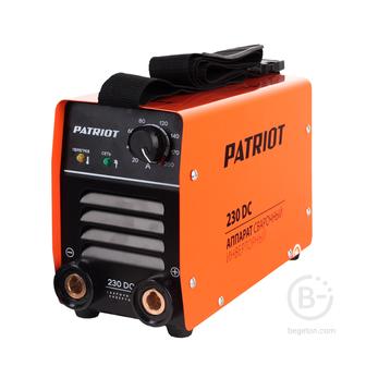 Сварочные инверторы Аппарат сварочный инверторный PATRIOT 230DC MMA