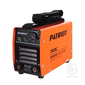 Сварочные инверторы Аппарат сварочный инверторный PATRIOT 170DC MMA