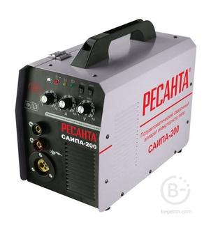 Полуавтоматические сварочные аппараты Сварочный аппарат инверторный п/а САИПА-200C Ресанта 65/56