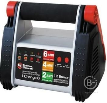 Зарядное устройство QUATTRO ELEMENTI i-Charge 6 полный автомат 771-145