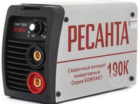Сварочный аппарат инверторный САИ190К(компакт) Ресанта 65/36