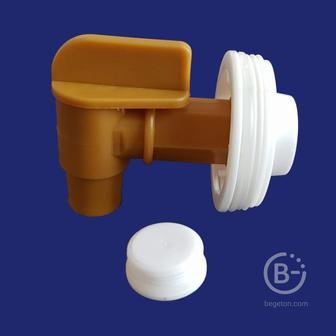 Пластиковый кран на горловину 3/4″ (20мм)