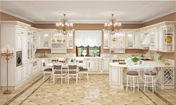 """Классическая кухня с итальянскими фасадами из массива дерева """"Афина Оро"""""""