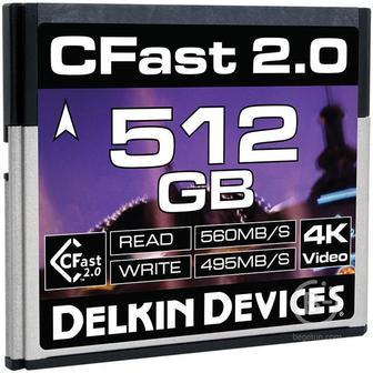 Карта памяти Delkin Devices 512GB Cinema CFast 2.0 560 - 495MB/s DDCFST560512 512GB Cinema CFast 2.0 560 - 495MB/s