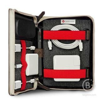 Сумка Twelve South BookBook CaddySack для мобильных и аксессуаров, кожа 12-1729 BookBook CaddySack для мобильных и аксессуаров, кожа
