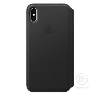Кожаный чехол Apple Leather Folio для iPhone XS, цвет (Black) черный MRWW2ZM/A Leather Folio для iPhone XS, цвет (Black) черный
