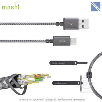 Кабель Moshi Integra USB-C to USB-A кабель покрытие кевлар серый 1,5м 99MO084211 Integra USB-C to USB-A кабель покрытие кевлар серый 1,5м