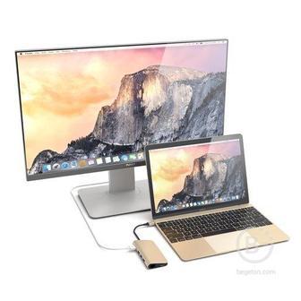 USB адаптер Satechi Aluminum Multi-Port Adapter 4K c Ethernet, золотой ST-TCMAG Aluminum Multi-Port Adapter 4K c Ethernet, золотой