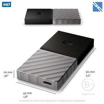 Внешний SSD Western Digital WD 256GB My Passport USB 3.1 Gen 2 External SSD WDBKVX2560PSL WD 256GB My Passport USB 3.1 Gen 2 External SSD