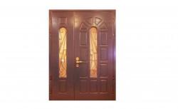 Входная дверь в подъезд с МДФ и стеклом с обоих сторон — DR2624
