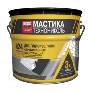 Мастика для гидроизоляции строительных конструкций №24 МГТН 3 кг