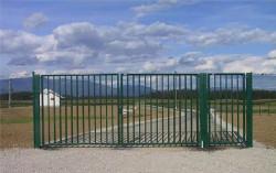 Ворота распашные сварные 4.5 м с монтажом