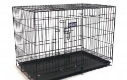 Клетка для собак и кошек Navisarket 76x46x56 черна