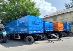 Прицеп-зерновоз трехосный бортовой 8499/030сх