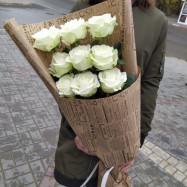 Классический букет из белых роз) 1 200