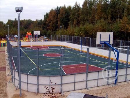 Хоккейная коробка, изготовление и монтаж