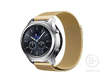 Ремешок миланская петля для Samsung Gear S3 Frontier / S3 Classic / Galaxy Watch 46мм (Золотой)