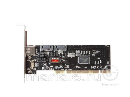 Контроллер PCI SATAx2 + eSATA SIL3512