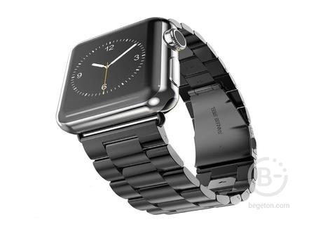 Стальной ремешок для Apple Watch 38mm Черный