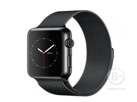 Ремешок миланская петля для Apple Watch 38mm Черный