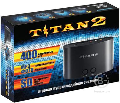 Игровая Приставка 8 + 16 бит Титан 2 + 400 ИГР!