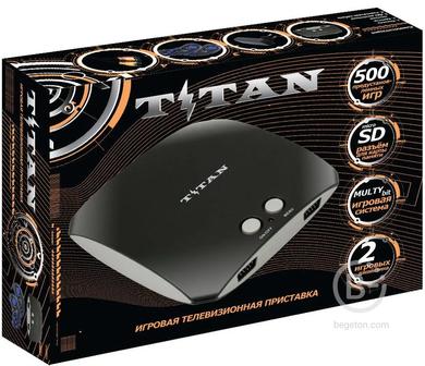 Игровая Приставка 8 + 16 бит Титан + 500 игр