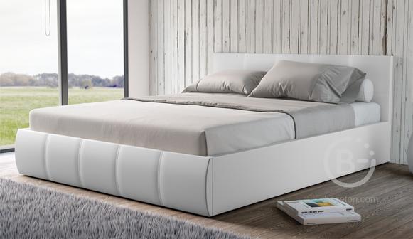 Мягкая кровать Верона 160 Teos white (подъемник)