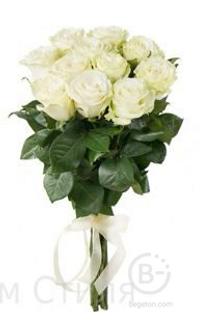 букет из белых роз 11шт