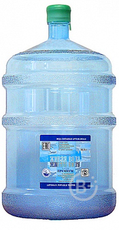 """Вода """"Живая вода"""" ПРЕМИУМ 19 литров"""