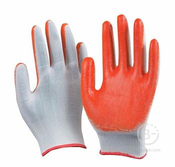 Перчатки нейлоновые покрытые латексом (одинарное покрытие)