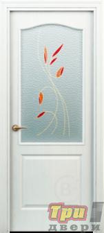Дверь Палитра new остекленная белая