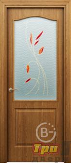 Дверь Палитра new остекленная темный ду