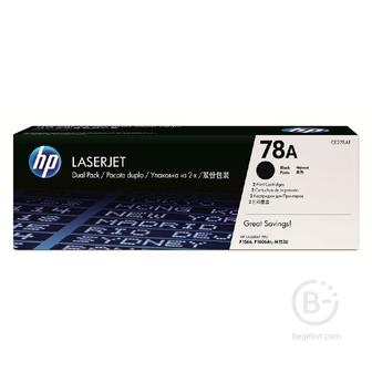 Тонер картридж набор из 2 шт HP 78A Black Dual Pk LJ Toner Cartridge