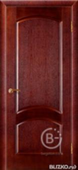 """Межкомнатная дверь Зодчий """"Классика"""", цв. Красный ясень, глухая, ШПОН"""