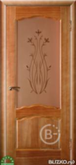 """Дверь межкомнатная Зодчий """"Диана"""", цв. Натуральный орех, шпон, остекленная"""