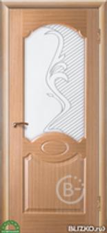 """Межкомнатная дверь Зодчий """"Карамель"""", цв. Дуб светлый, остекленная, шпон"""