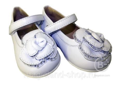 Туфли Детские (размер 20-23) РОЗА (Florens), арт. Е4118 белая кожа