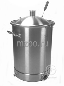 """Перегонный куб 70 литров (40*55) (кламп 2"""") сталь AISI 304 (купольная крышка)"""