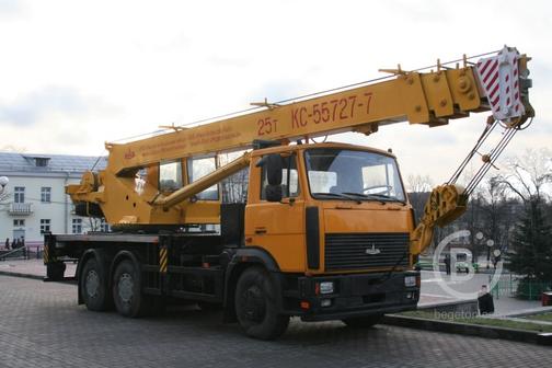 Аренда автокранов г/п 25 тонн.