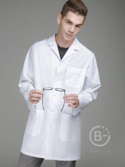 Халат 1-0006-00 б медицинский мужской 176 см./54