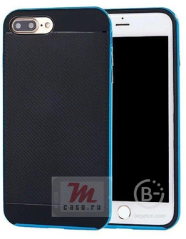 Чехол накладка TPU со съемным металлическим бампером для Samsung Galaxy J5   J510F (2016) (голубой)