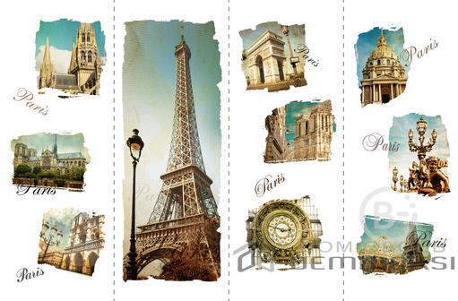 Париж Ретро 1,06*11,2 м Обои цифровой печати Divino Delux