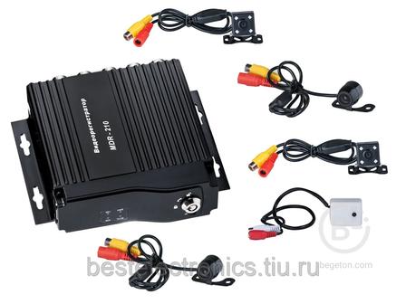 Комплект видеонаблюдения на 4 камеры (mdr - 210, монитор 4.3)