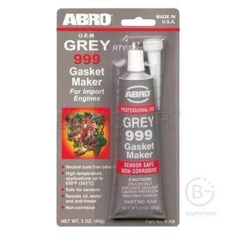 Герметик прокладок ABRO серый силиконовый 85г 9ABR