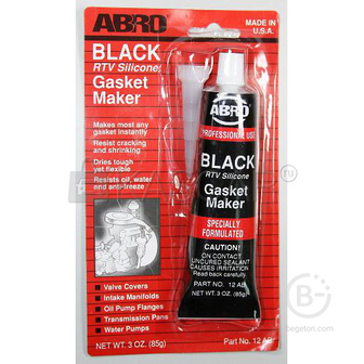 Герметик прокладок ABRO черный силиконовый 85г 12ABR