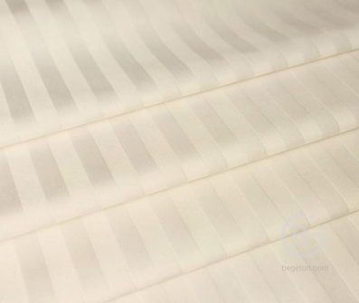 Сатин молочный 1x1 см страйп 150 гр 240 см х/б Китай Метраж