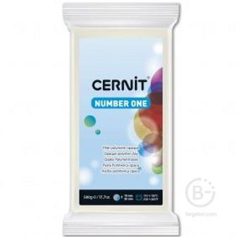 Полимерная глина Cernit Number One 027 (белый укрывистый) 500 г.