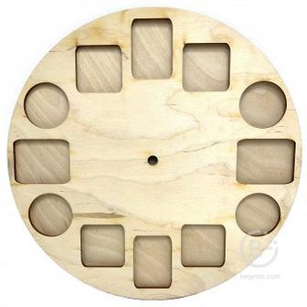 Основа для часов Циферблат с окошечками, диаметр 26 см