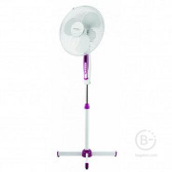 Вентилятор напольный Scarlett SC-SF111B05, подсветка, белый/фиолетовый