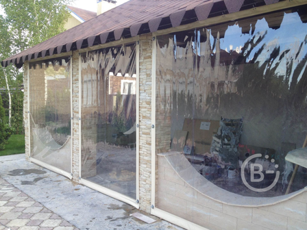 Мягкие окна для дачи (беседки,террасы,веранды,балконы и т.д.), а также для летних кафе,  автомойки , бани- собственное производство, замер, установка , доставка по всей России!